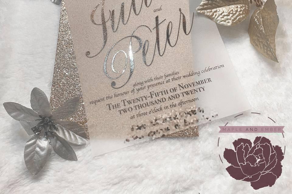 Glitter, Foil & Vellum Overlay