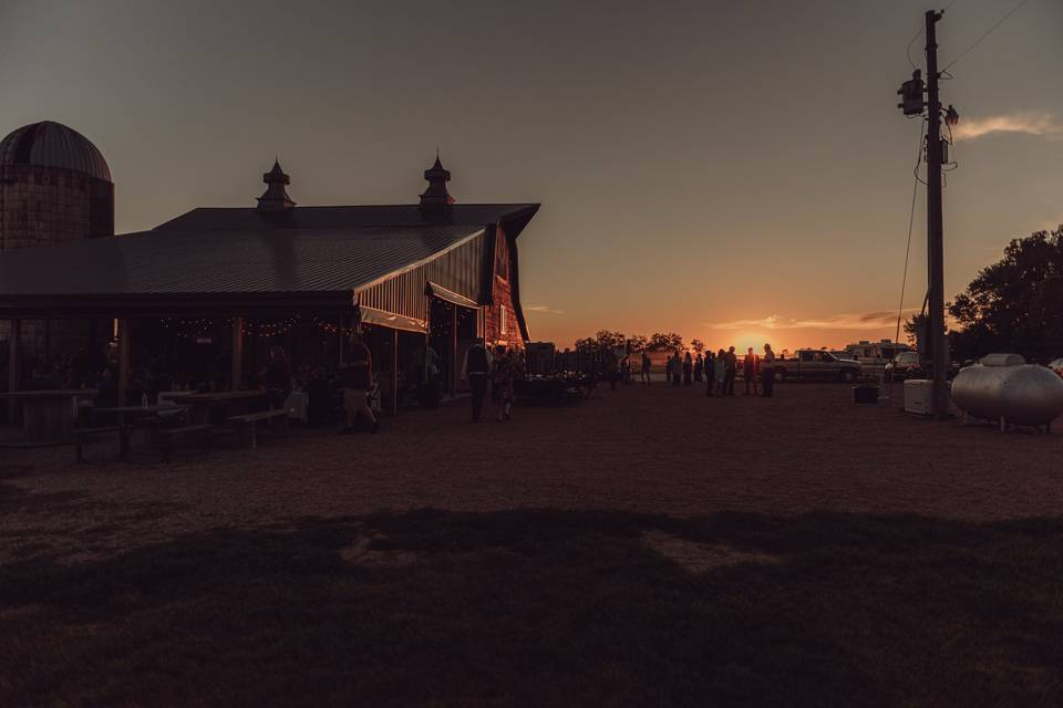 Sunset at outdoor venue