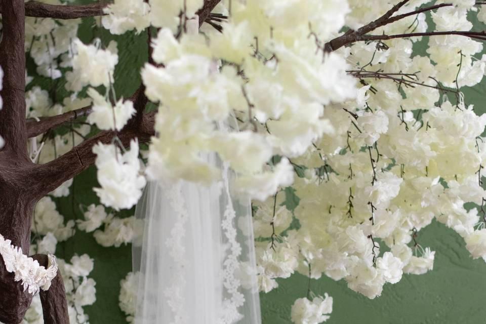 Veil tree & accessory armoire