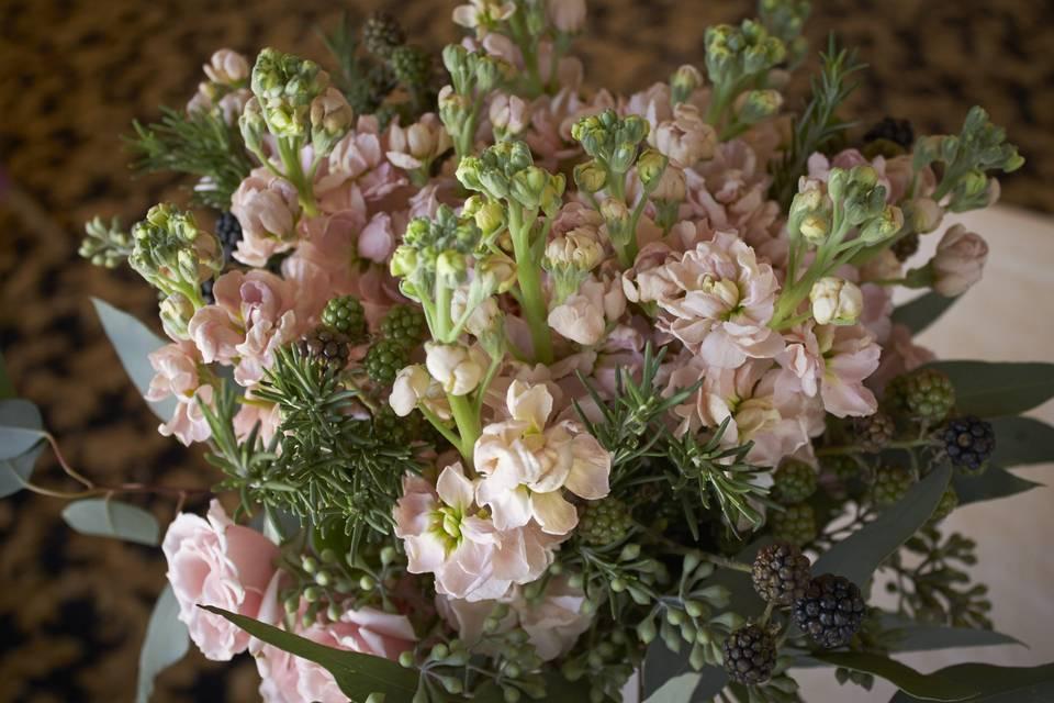 Pink floral arrangement