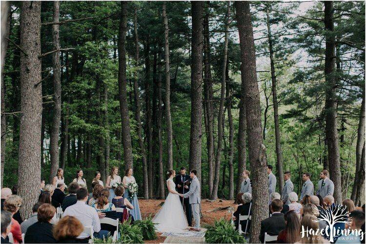Wooded ceremony site
