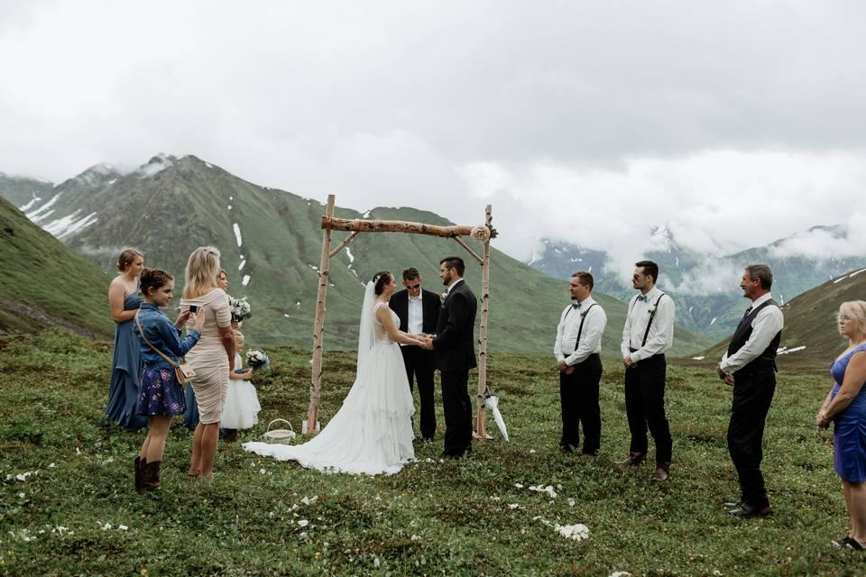 Intimate Wasilla Wedding