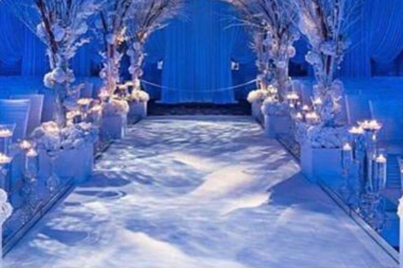 Winter wonderland ceremony