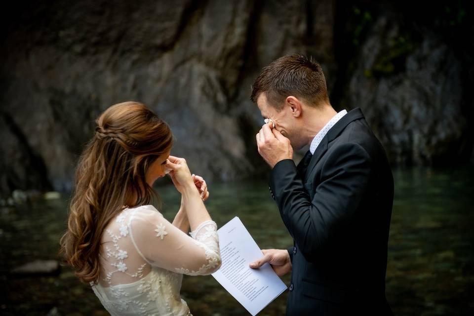 Heartfelt vows