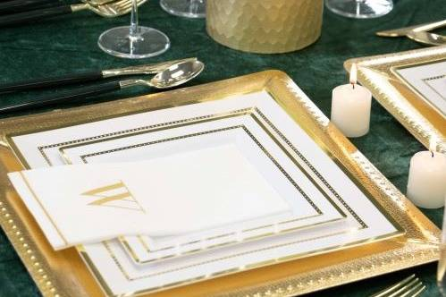 Emerald and Gold Wedding Table