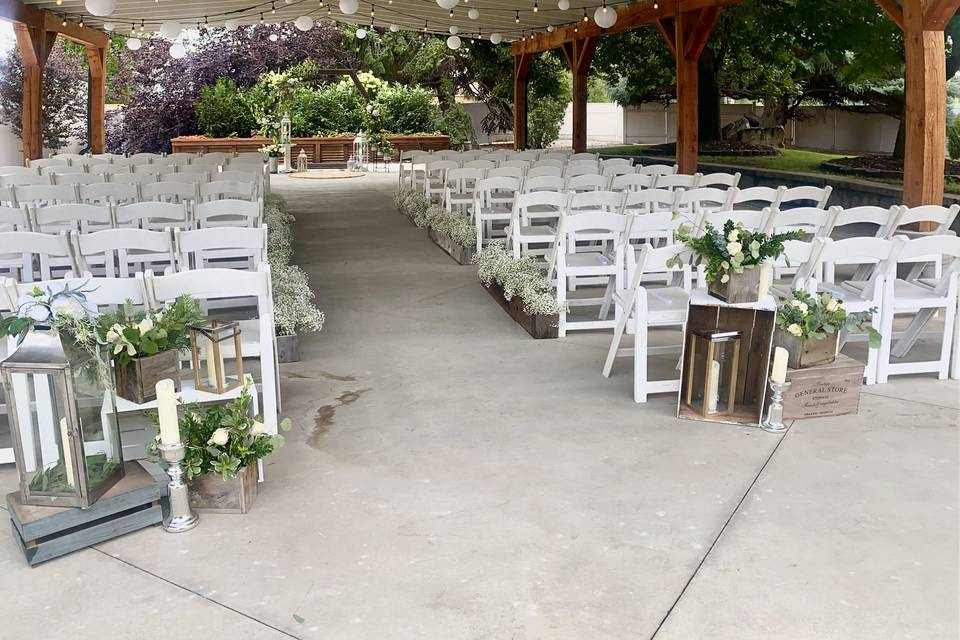 Outdoor Covered Ceremony