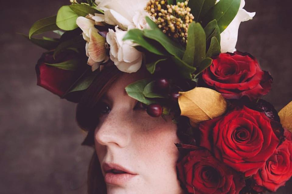 A romantic and luscious flower crown. Photo by Daphne K. Jenkins