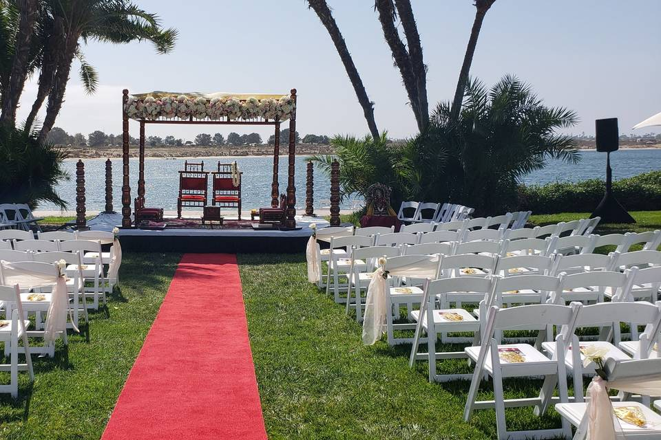 Indian wedding on the bay
