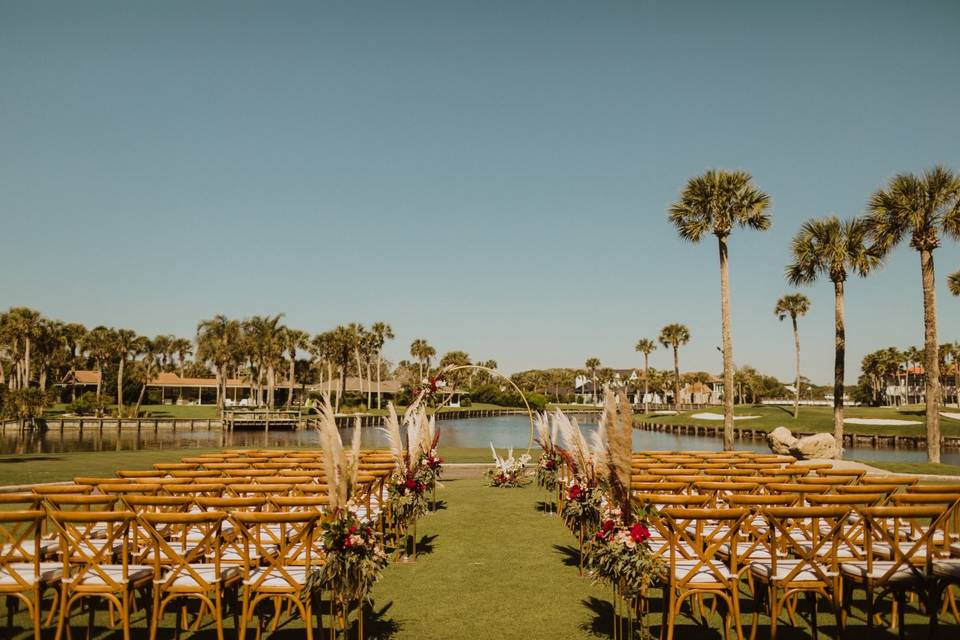 The ceremony site - Lyndsey Anne Photography