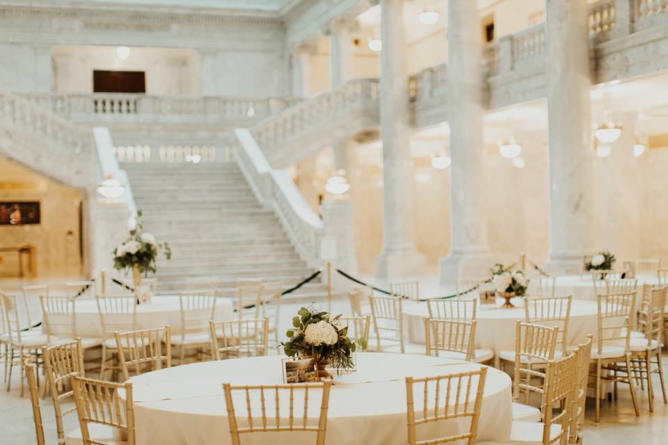 State capitol wedding flowers