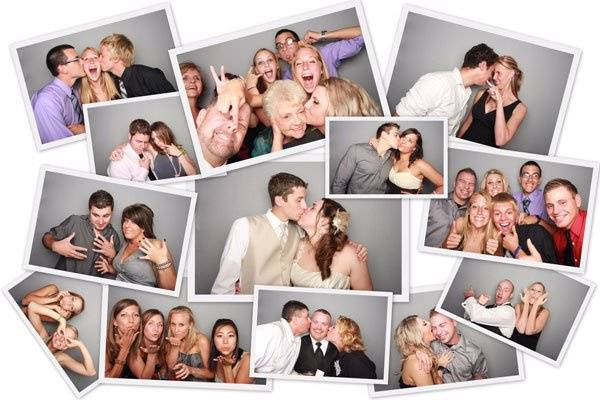 Collage of photos taken with Luxe Photobooth