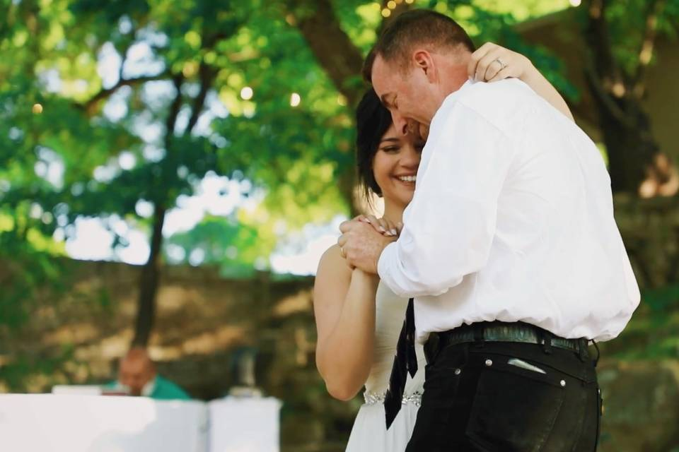 Slow dancing with dad