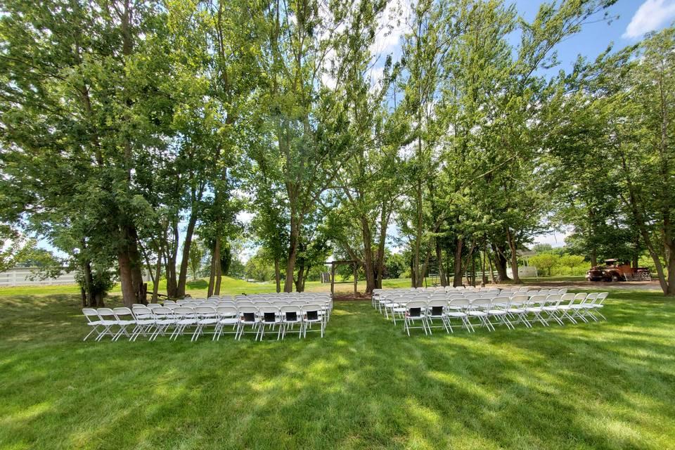 Beautiful, shaded seating