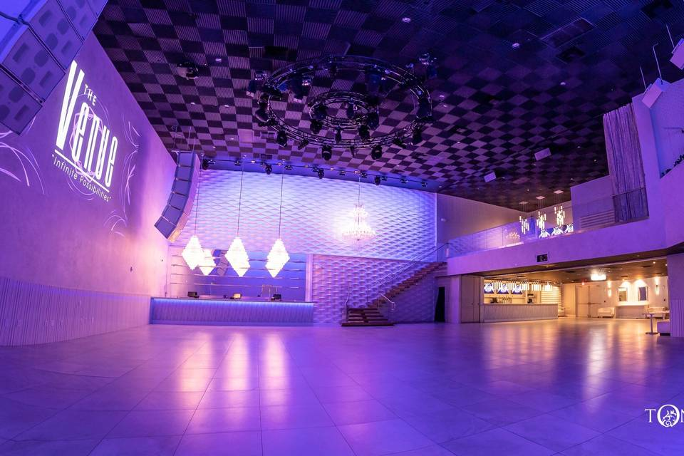 The expansive Crystal Ballroom