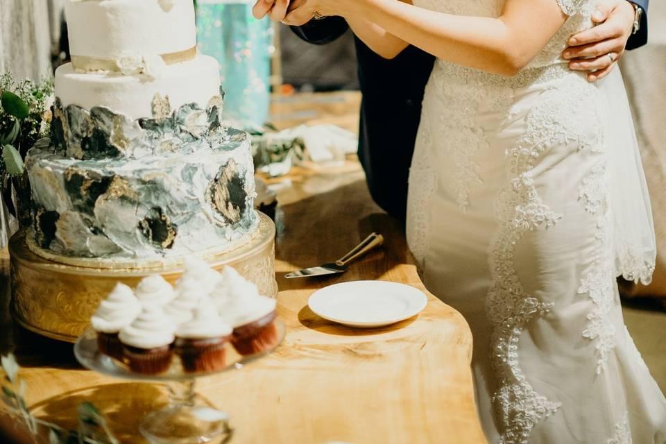 Cake cutting together