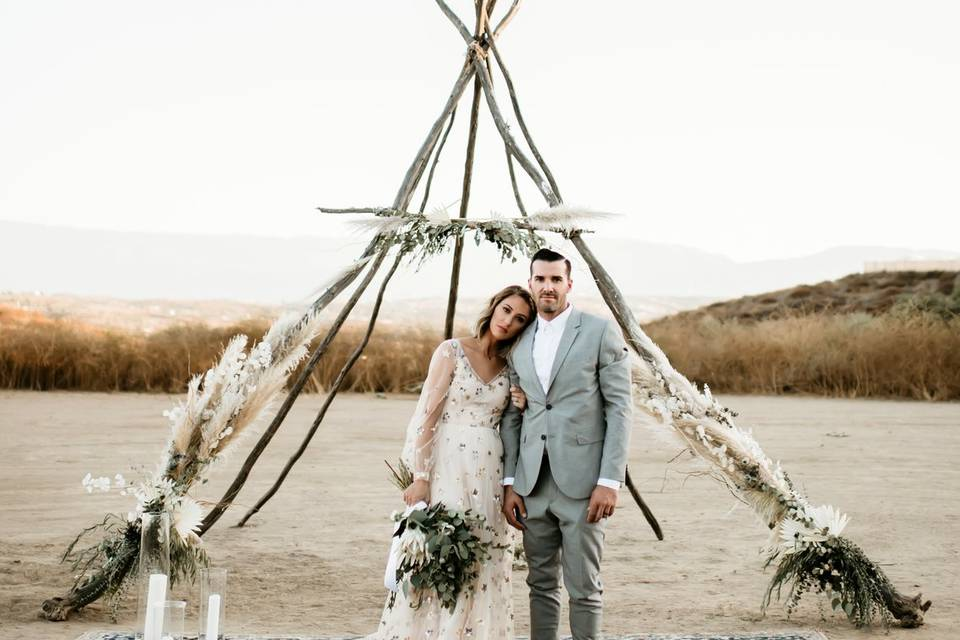 Intimate wedding in Temecula