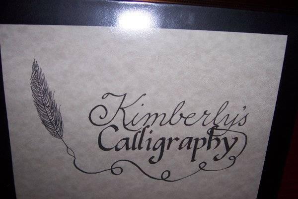 Kimberly's Calligraphy