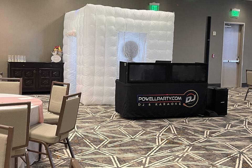 Photo booth and DJ setup