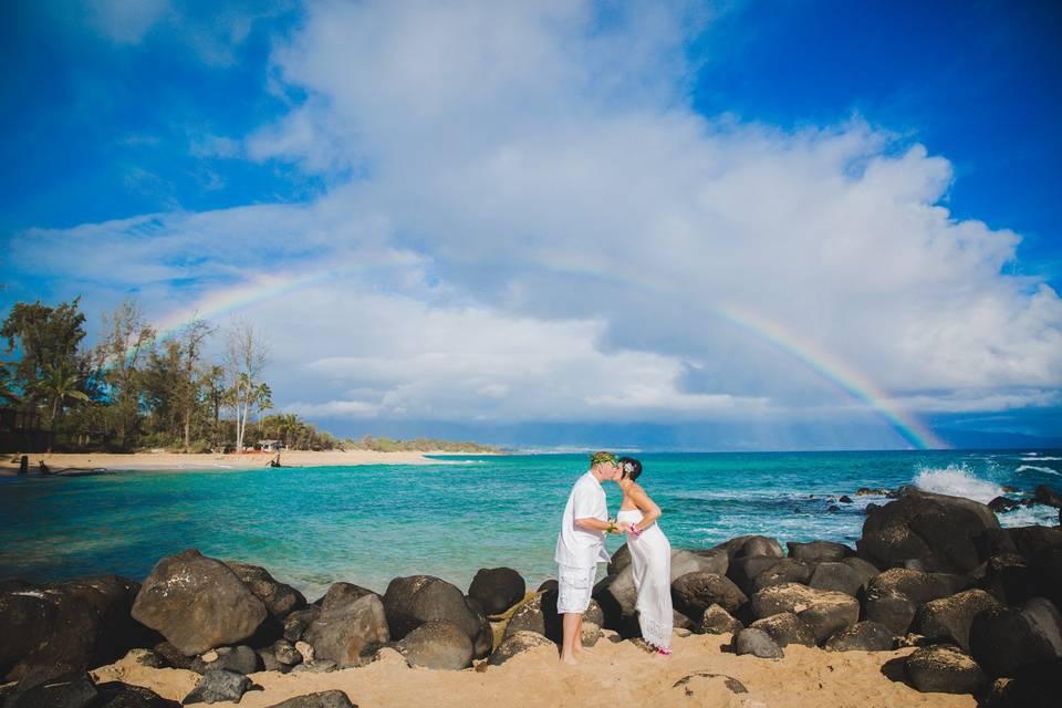 Featured Maui wedding on emmalinebride.com