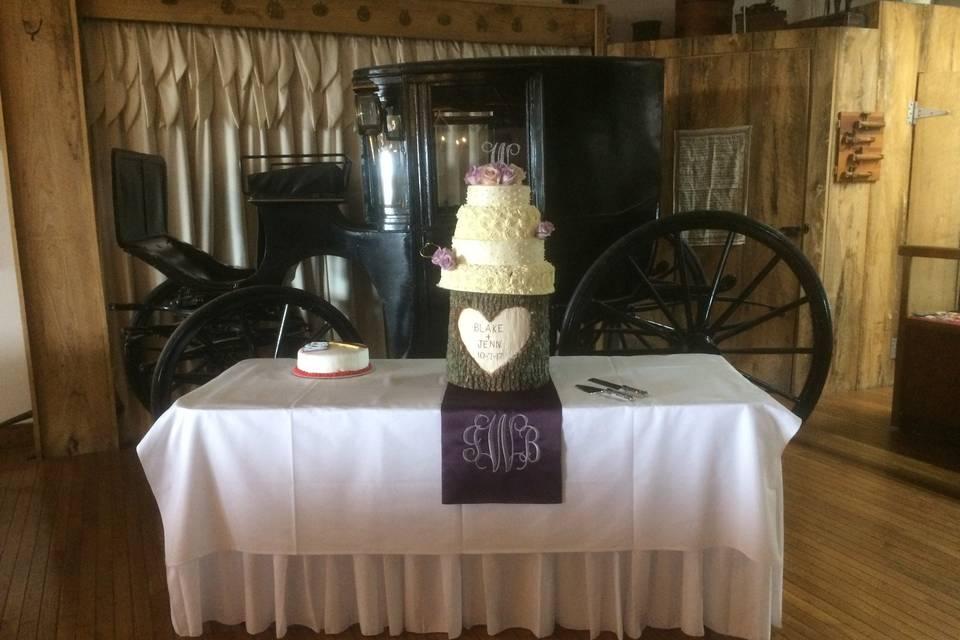 Main room cake table