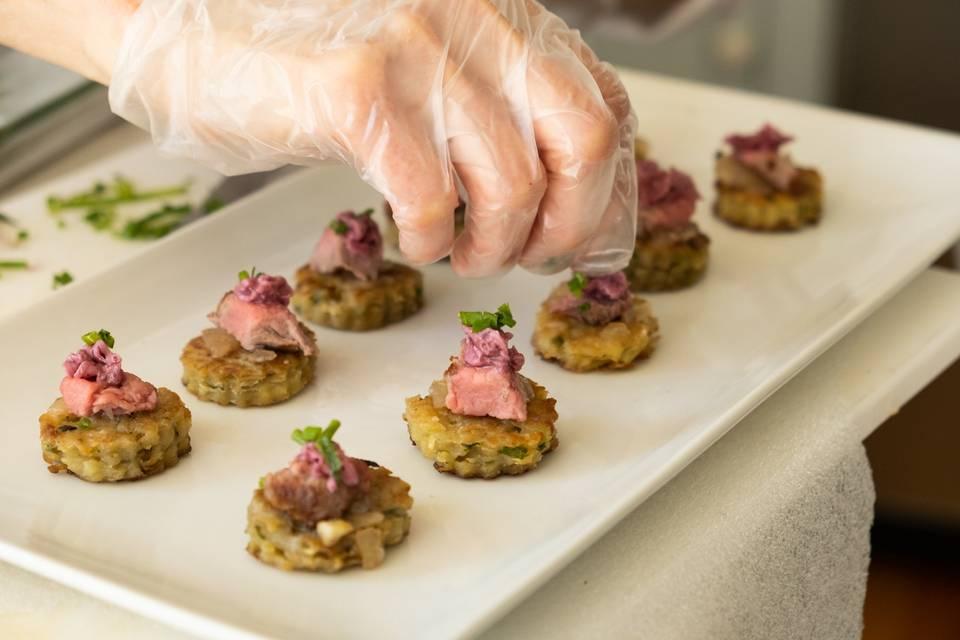 Filet Mignon on Latkes