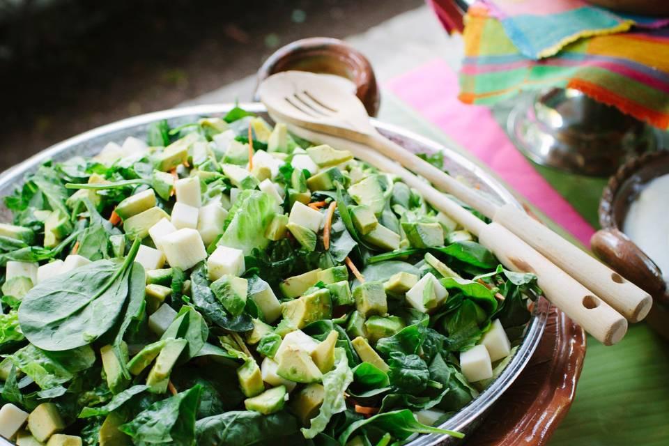 Buffet-style salad