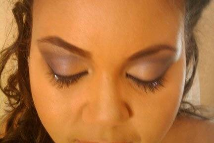 Makeup and lashes w/ Swarovski Crystals