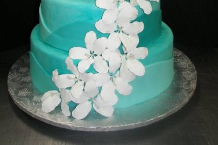 White flowers cascading