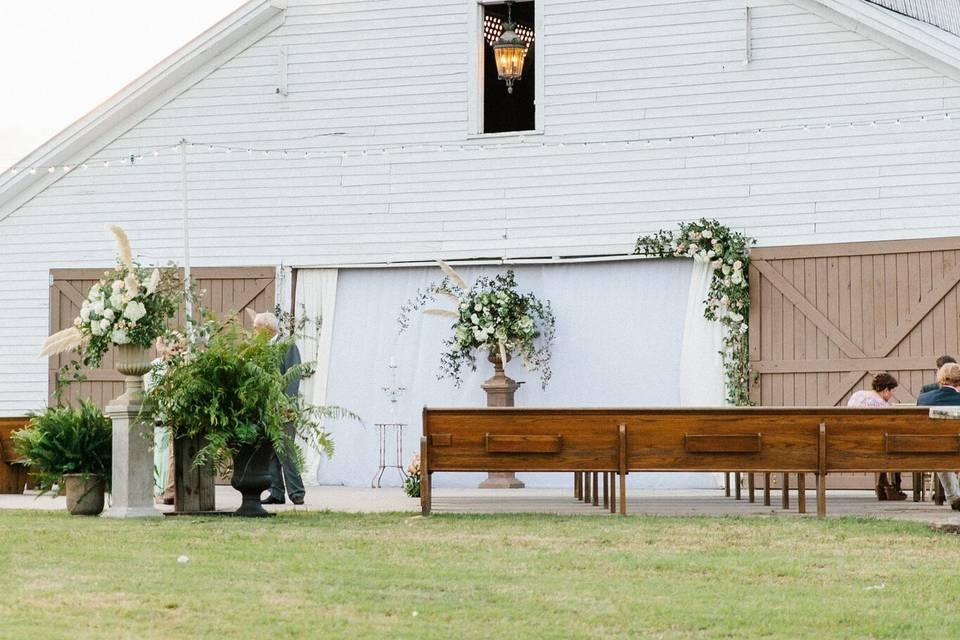 Back patio of Barn