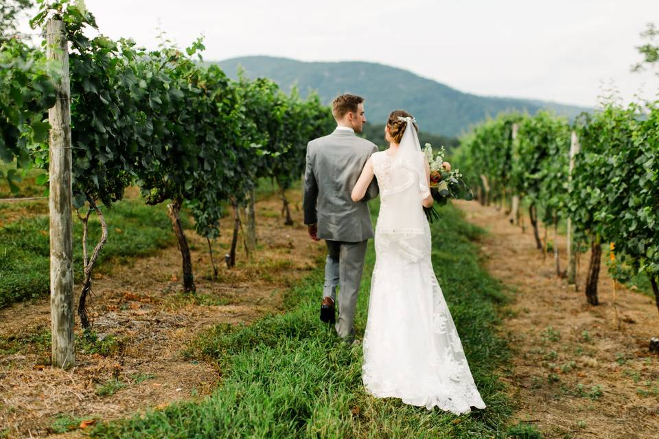 Mr. & Mrs. in the vines
