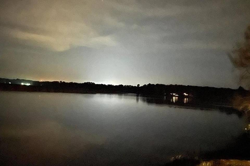 Moonlight over the Mattaponi.