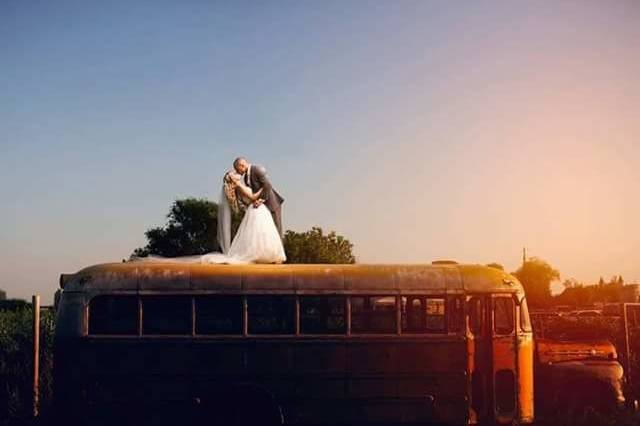 Vintage Bus for Couples