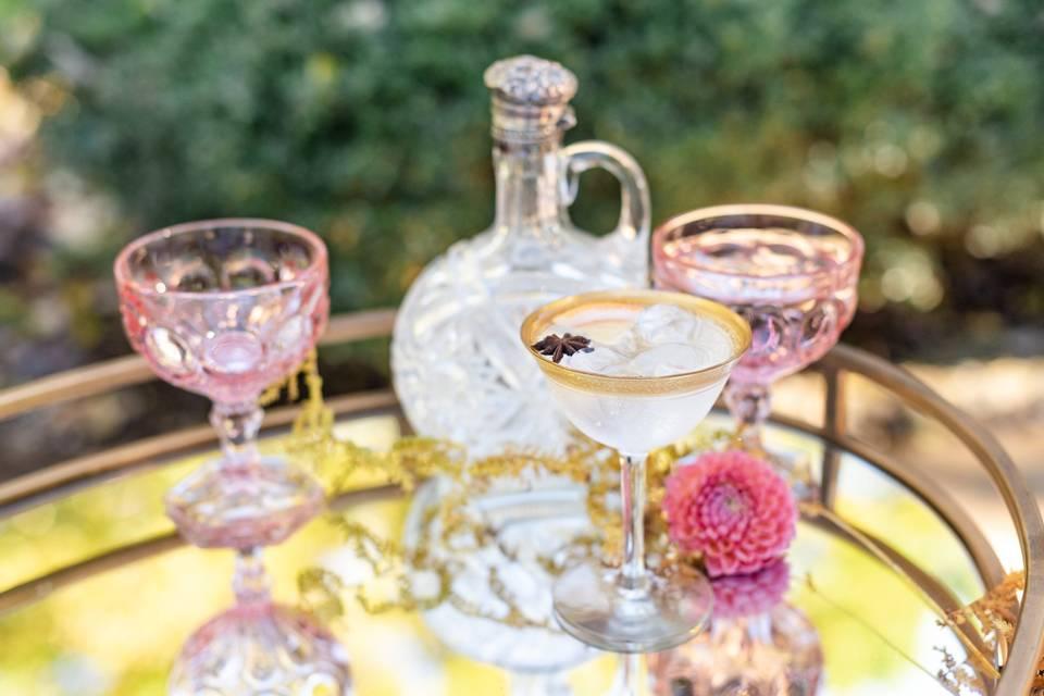 Glassware setting