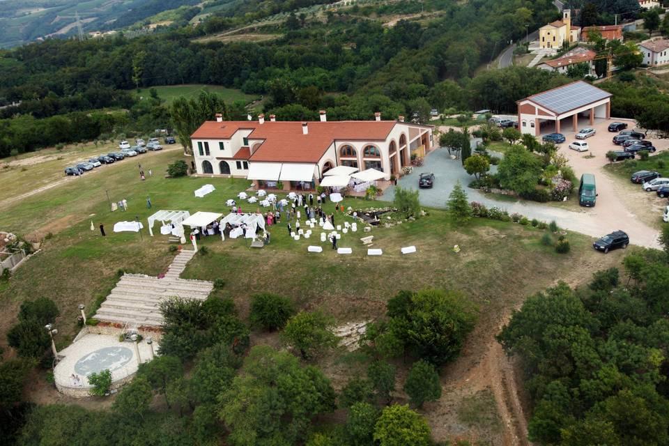 Aerial view of Tenuta Monte della Nebbia