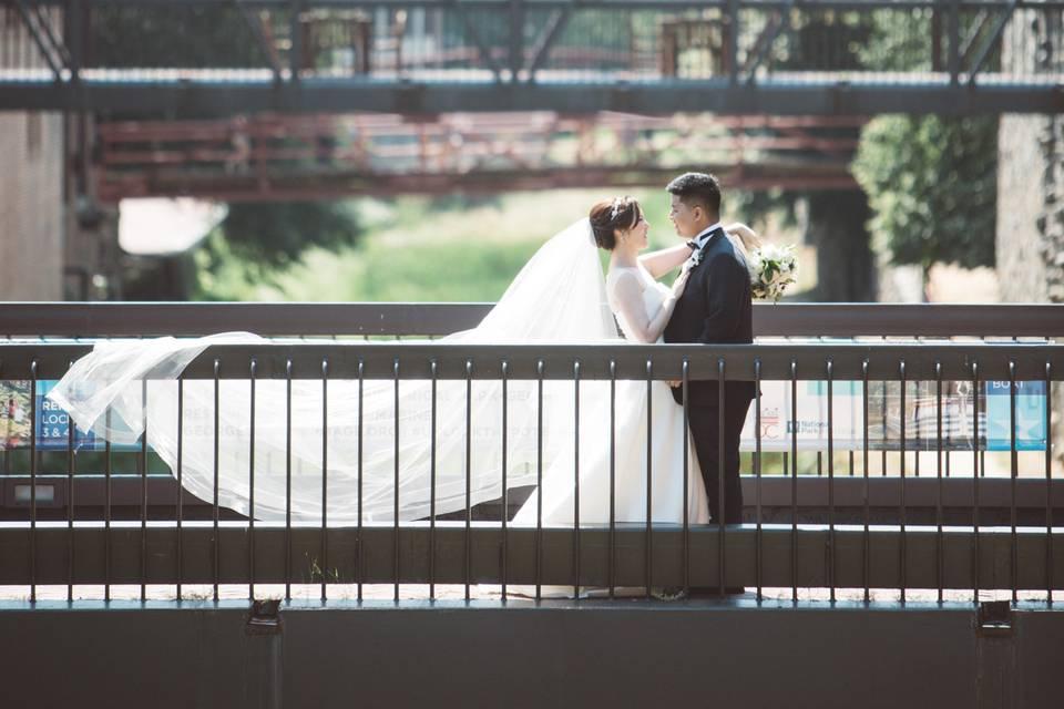 Standing on a bridge, Mike Sperlak Photography