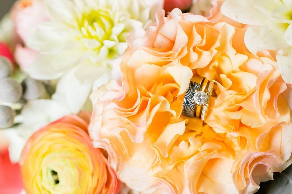 Closeup of florals