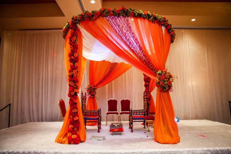 Orange drapes