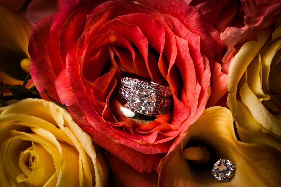 Ring and flowers