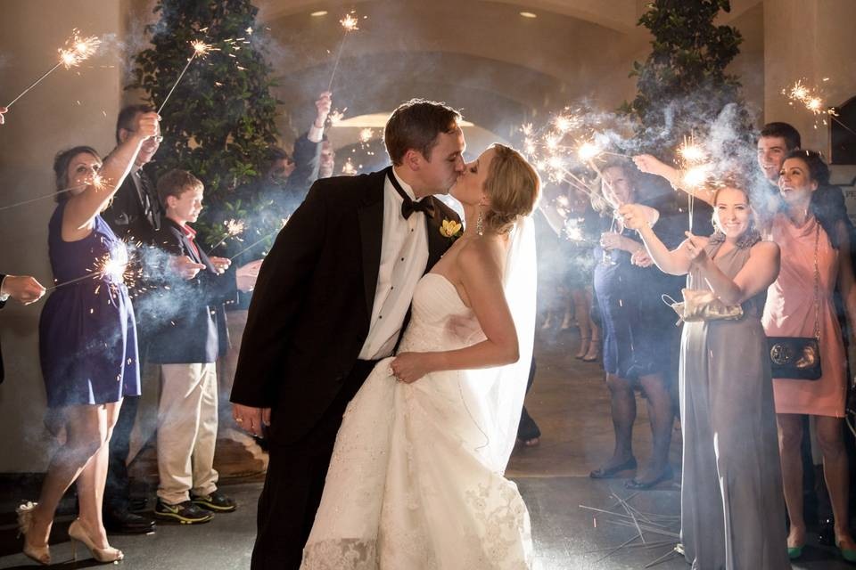 Sparklers and a kiss
