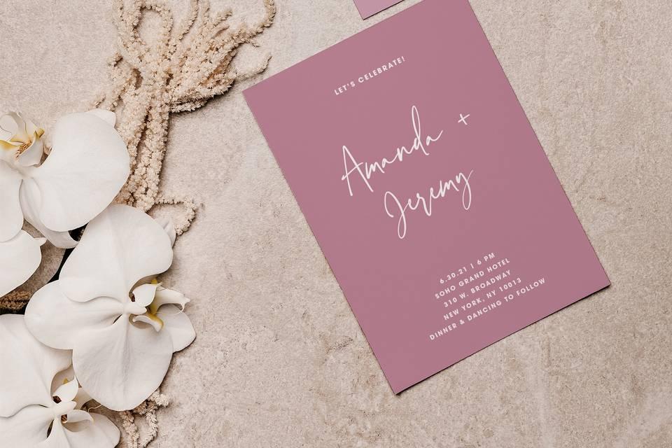 Amour Invite & rsvp