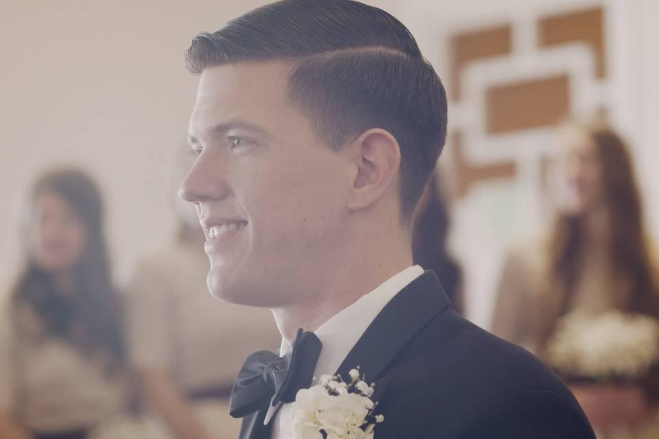 The awaiting groom