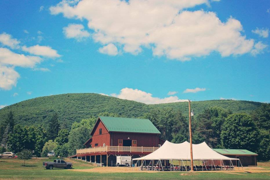 Barn and event tent