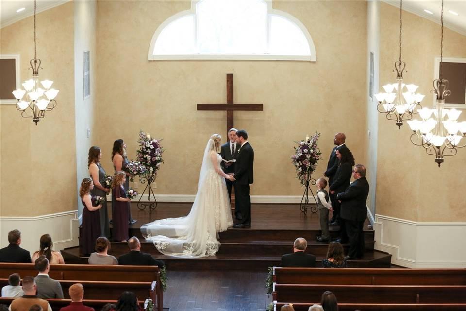 Ceremony in Vintage Chapel