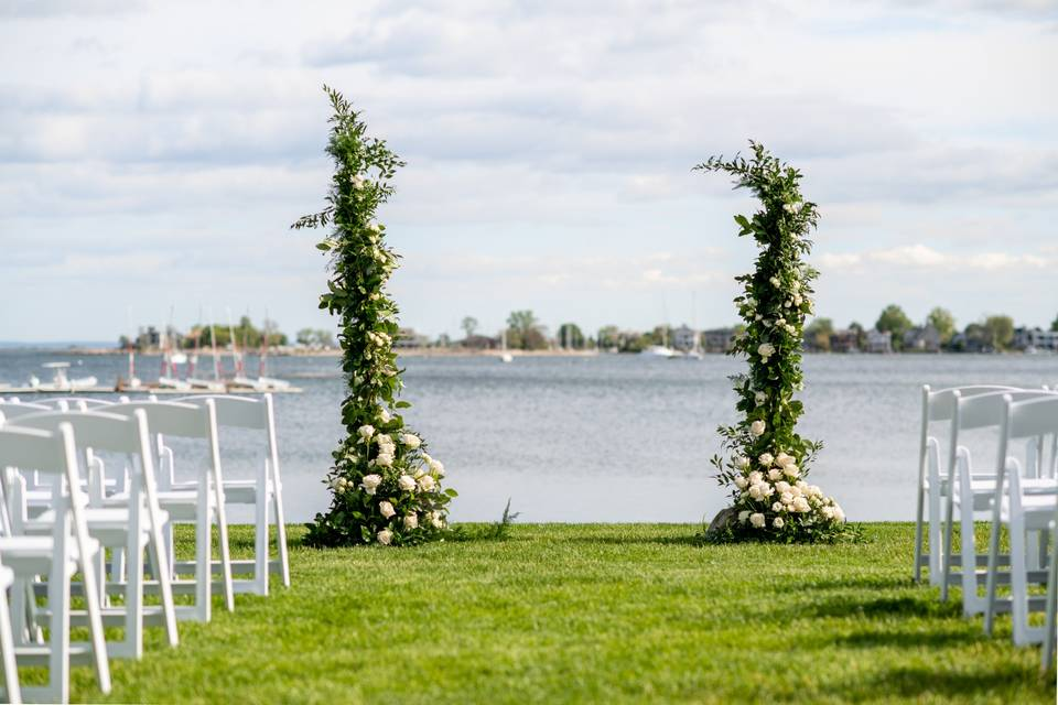 Ceremony Floral Pillars
