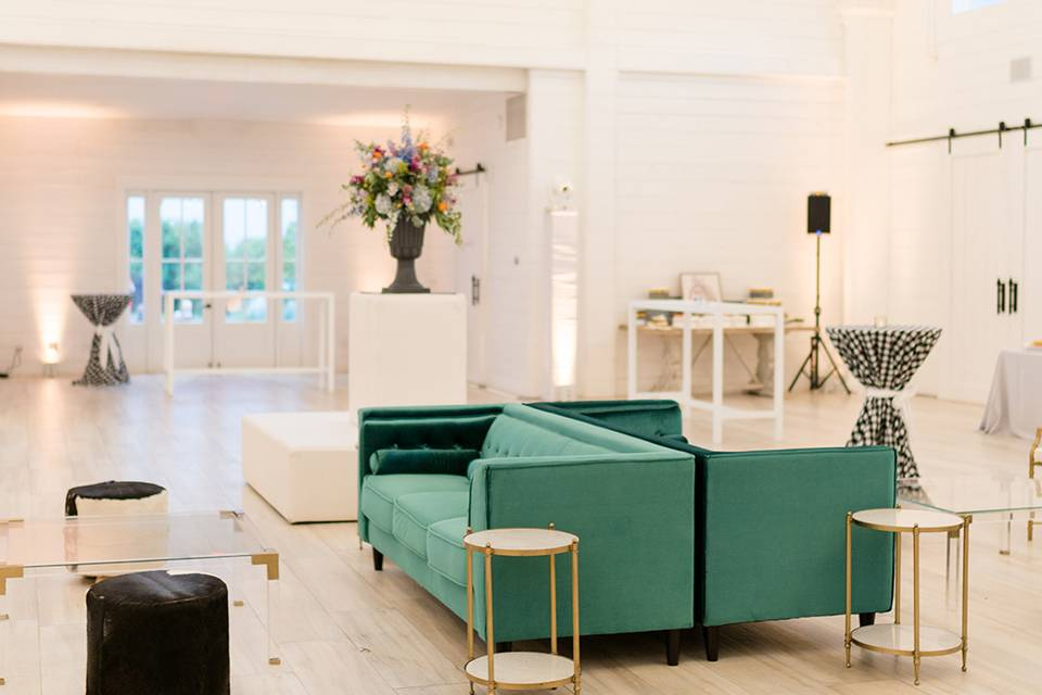 Reception lounge seating