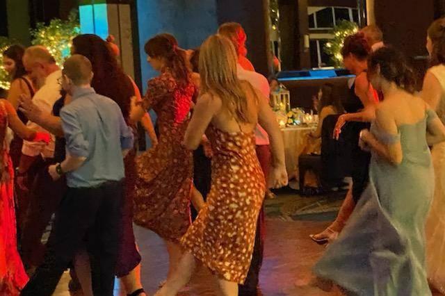 Rocking the dance floor
