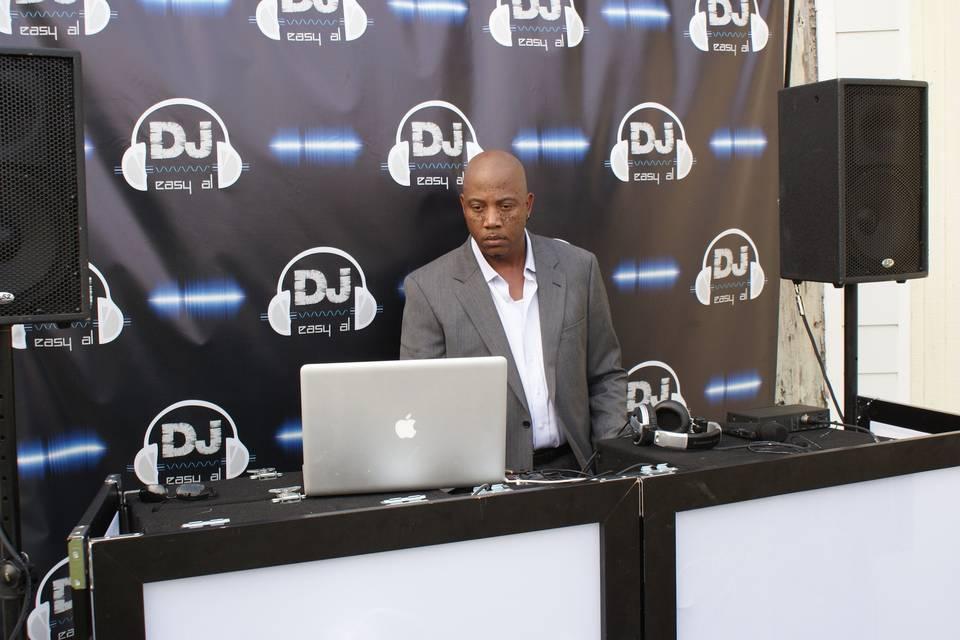 DJ in the DJ booth