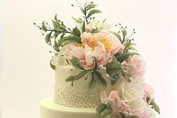 2-tier floral cake