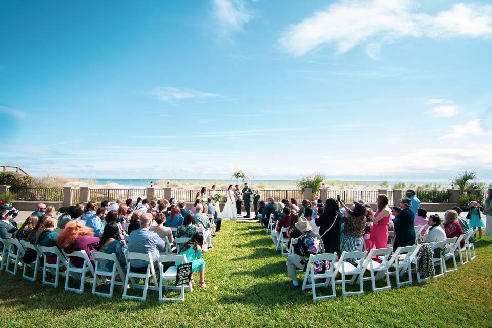 Ocean Lawn Ceremony