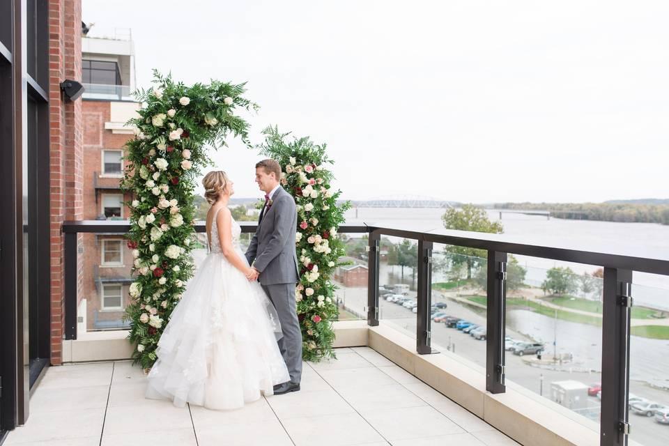 BALCONY WEDDING CEREMONY